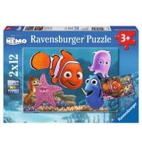 Ravensburger Puzzle - Nemo kleine Ausreisser, 2x12 Teile