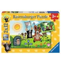 Ravensburger Puzzle - Lernspaß mit Maulwurf, 2x12 Teile