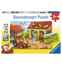 Ravensburger Puzzle - Fleißig auf dem Bauernhof, 2x12 Teile