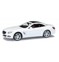 Herpa - Mercedes-Benz SL-Klasse Cabrio mit Hardtop, zirrusweiß