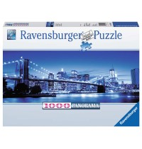 Ravensburger Puzzle - Panorama Puzzle - Leuchtendes New York, 1000 Teile