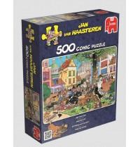 Jumbo Spiele - Puzzle - Jan van Haarsteren - Fang die Katze!, 500 Teile