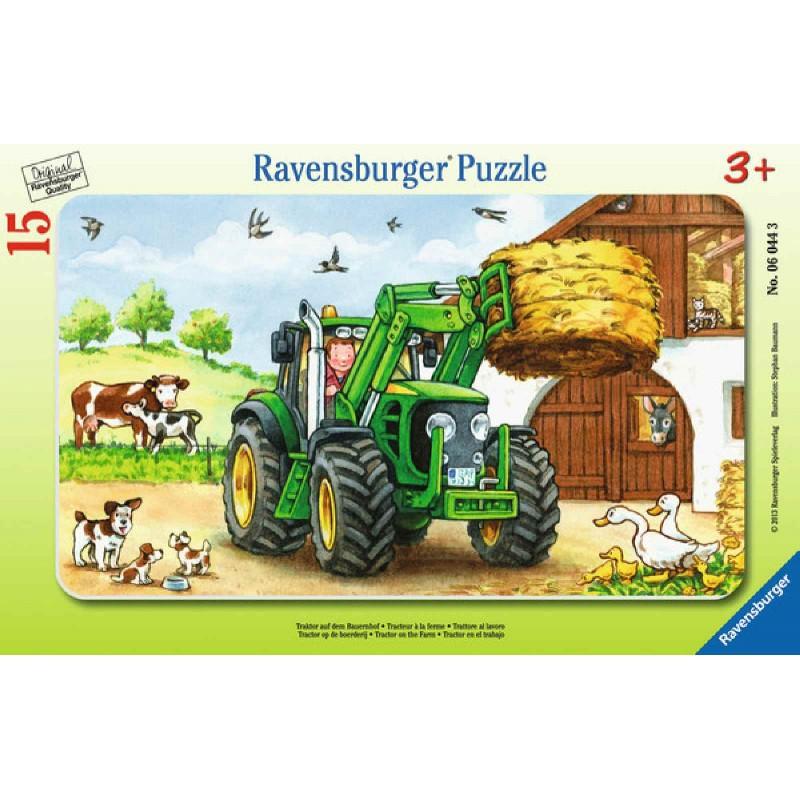 Ravensburger Puzzle - Rahmenpuzzle - Traktor auf dem Bauernhof, 15 ...