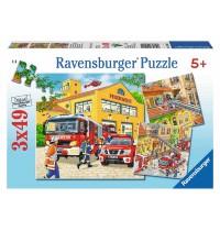 Ravensburger Puzzle - Feuerwehreinsatz, 3x49 Teile