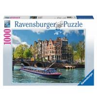 Ravensburger Puzzle - Grachtenfahrt in Amsterdam, 1000 Teile