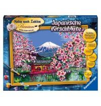 Ravensburger Spiel - Malen nach Zahlen Premium - Japanische Kirschblüte