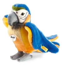 Steiff - Kuscheltiere - Wildtiere - Lori Papagei, blau/gelb, 26cm