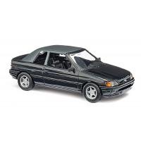 Busch Automodell - Ford Escort Cabrio, geschlos. Schwarz