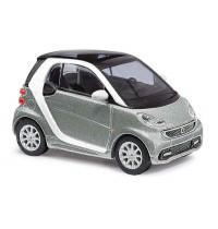 Busch Automodell - Smart Fortwo 2012 CMD, Silbermetallic