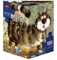 Heye - Dreieckspuzzle 1000 Teile - Degano, Cats Life