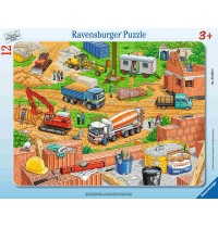 Ravensburger Puzzle - Rahmenpuzzle - Arbeit auf der Baustelle, 12 Teile
