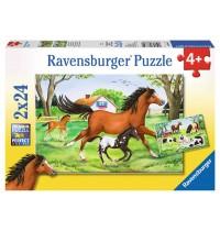 Ravensburger Puzzle - Welt der Pferde, 2x24 Teile