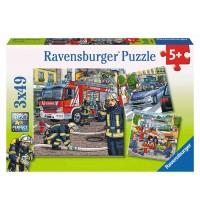 Ravensburger Puzzle - Helfer in der Not, 3x49 Teile
