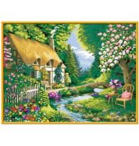 Ravensburger Spiel - Malen nach Zahlen Premium - Cottage Garden