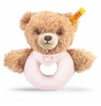 Steiff - Babywelt - Spielzeug - Greifringe & Rasseln Schlaf-gut-Bär Greifring mit Rassel, rosa, 12cm