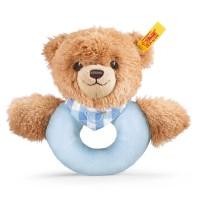 Steiff - Babywelt - Spielzeug - Greifringe & Rasseln Schlaf-gut-Bär Greifring mit Rassel, blau, 12cm