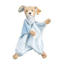 Steiff - Babywelt - Spielzeug - Schmusetücher - Gute-Nacht-Hund Schmusetuch, blau, 30cm