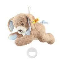 Steiff - Babywelt - Spielzeug - Spieluhren - Gute-Nacht-Hund Spieluhr, blau, 22cm