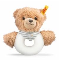Steiff - Babywelt - Spielzeug - Greifringe & Rasseln Schlaf-gut-Bär Greifring mit Rassel, grau, 12cm