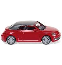 Wiking - VW The Beetle Cabrio geschlossen, tornadorot-lackiert