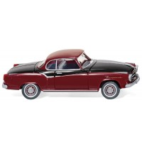 Wiking - Borgward Isabella Coupé, purpurrot-schwarz 1957-61