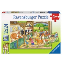 Ravensburger Puzzle - Fröhliches Landleben, 2x24 Teile