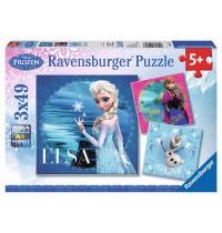 Ravensburger Puzzle - Frozen: Elsa, Anna & Olaf, 3x49 Teile