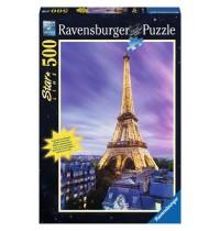 Ravensburger Puzzle - Leuchtpuzzle - Funkelnder Eiffelturm, 500 Teile