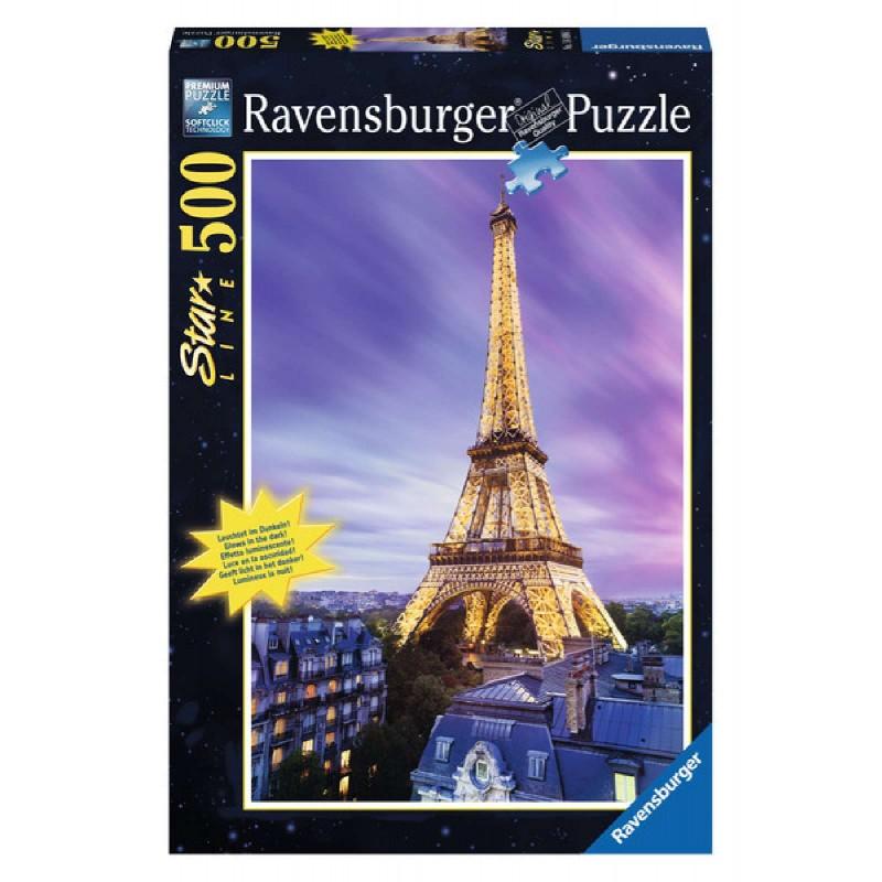 Ravensburger Puzzle - Leuchtpuzzle - Funkelnder Eiffelturm, 500 ...