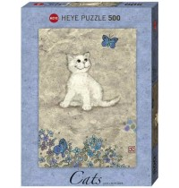 Heye - Standardpuzzle 500 Teile - Cats - White Kitty, Jane Crowther
