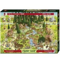 Heye - Standardpuzzle 1000 Teile - Funky Zoo, Black Forest Habitat