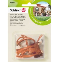 Schleich - World of Nature - Farm Life - Zubehör - Westernsattel + Zaumzeug