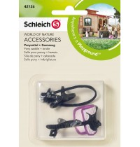 Schleich - World of Nature - Farm Life - Zubehör - Ponysattel + Zaumzeug