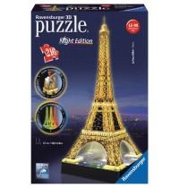 Ravensburger Puzzle - 3D Vision Puzzle - Eiffelturm bei Nacht, 216 Teile