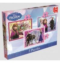 Jumbo Spiele - Disney™ Frozen - Trio Puzzle 3 x 35 Teile