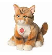 Teddy-Hermann - Katze rot getigert, 30 cm