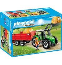 Playmobil® 6130 - Country - Bauernhof: Großer Traktor mit Anhänger