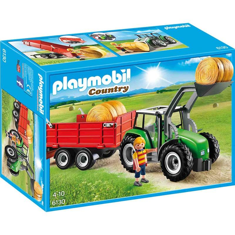Playmobil 6130 Country Bauernhof Großer Traktor Mit