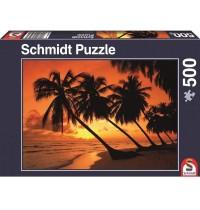 Schmidt Spiele - Puzzle - Tropisches Abendrot, 500 Teile