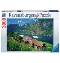 Ravensburger Puzzle - Sognefjord Norwegen, 3000 Teile