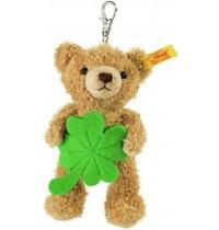 Steiff - Glücksbringer - Schlüsselanhänger Glücksbringer Teddybär, goldbraun, 12cm