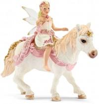 Schleich - World of Fantasy - Bayala - Elfen - Lilienzarte Elfe, auf Pony reitend