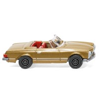 Wiking - Mercedes-Benz 250 SL Cabrio, goldmetallic lackiert