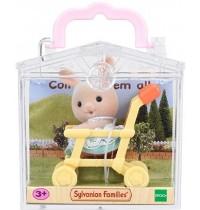 Sylvanian Families - Minibox - Hase im Kinderwagen