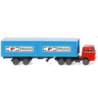 Wiking - Containersattelzug Henschel Interpool