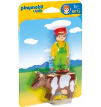 Playmobil® 6972 - 1 2 3 Playmobil® - Bauer mit Kuh