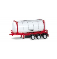 Herpa - 26 ft. Containerchassis mit Swapcontainer, weiß/rot