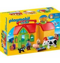 Playmobil® 6962 - 1 2 3 Playmobil® - Mein Mitnehm-Bauernhof