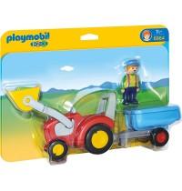 Playmobil® 6964 - 1 2 3 Playmobil® - Traktor mit Anhänger