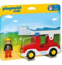 Playmobil® 6967 - 1 2 3 Playmobil® - Feuerwehrleiterfahrzeug
